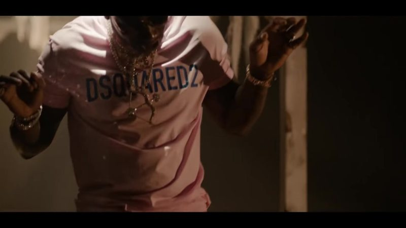 "Dsquared2 T-Shirt in ""I'm Not Goin'"" by Gucci Mane feat. Kevin Gates (2018) Official Music Video Product Placement"