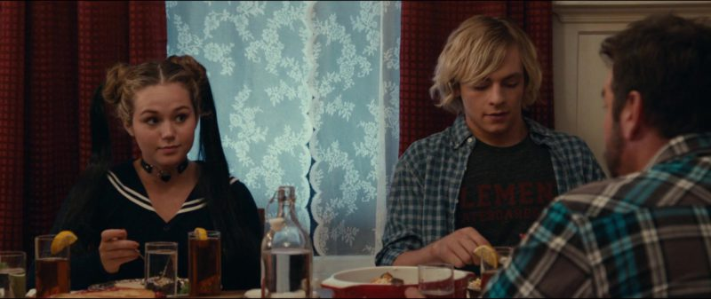 Element Skateboards Black Tee Worn by Ross Lynch in Status Update (2018) - Movie Product Placement