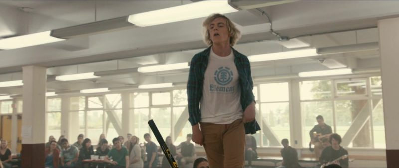 Element White T-Shirt Worn by Ross Lynch in Status Update (2018) - Movie Product Placement