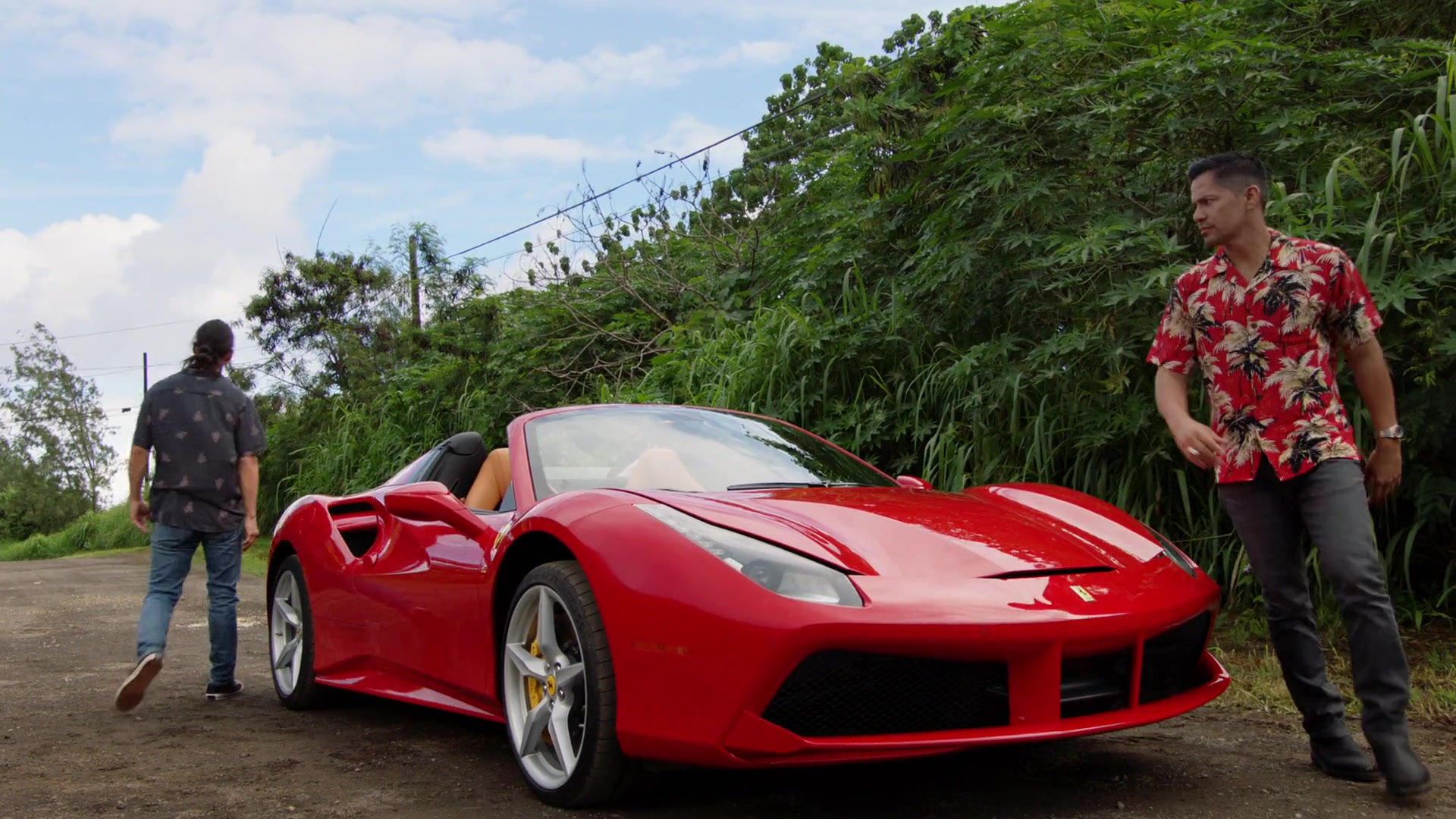 2017 Ferrari 488 Spider >> Ferrari 488 Spider Red Sports Car Used by Jay Hernandez in Magnum P.I. Season 1 Episode 8: The ...