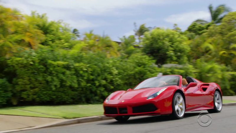 """Ferrari Red Sports Car Used by Jay Hernandez (Thomas Magnum) in Magnum P.I.: Season 1, Episode 7 """"The Cat Who Cried Wolf"""" (2018) - TV Show Product Placement"""