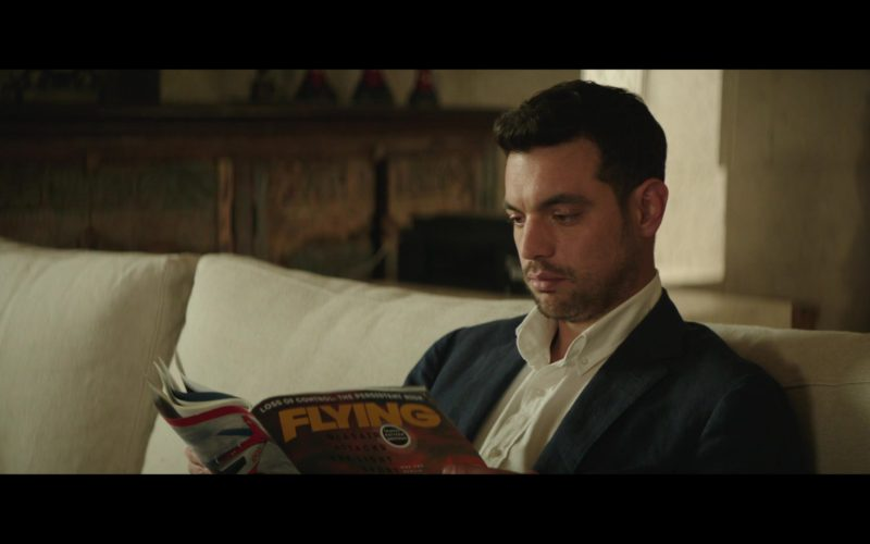 Flying Magazine Held by David Sutcliffe in The Romanoffs Season 1 Episode 6 (3)