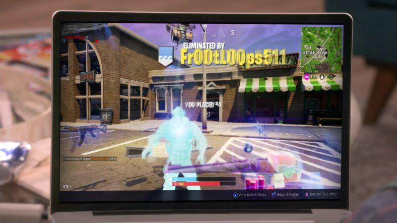 Fortnite Online Video Game in The Big Bang Theory Season 12 Episode 9: The Citation Negation (2018) TV Show Product Placement
