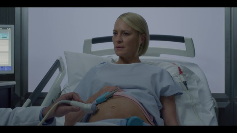 GE Pregnancy Ultrasound (Ultrasonography Machine) Used by Robin Wright (Claire Underwood) in House of Cards Season 6 Episode 7 Chapter 72 (2018) - TV Show Product Placement