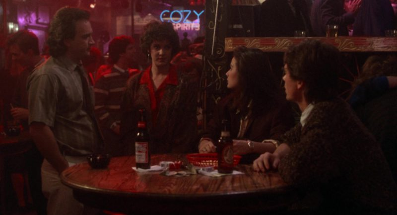 George Killian's Irish Red and Budweiser Beer Bottles in About Last Night… (1986) Movie Product Placement