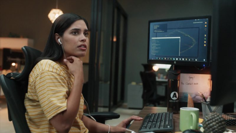"HP Monitor Used by Otmara Marrero (Izzy Morales) in StartUp: Season 3 Episode 9 ""Questionable Costs"" (2018) TV Show Product Placement"
