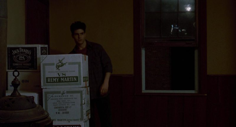 Jack Daniel's Whiskey and Remy Martin VS Cognac Boxes in The Color of Money (1986) Movie Product Placement