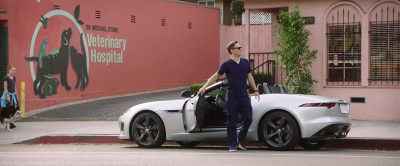 Jaguar F-TYPE Convertible Luxury Vehicle in Dog Days (2018) Movie