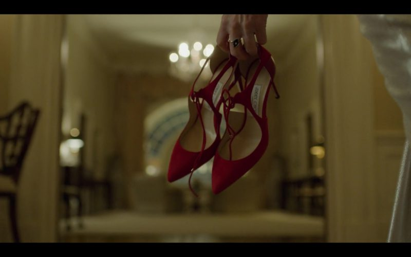 Jimmy Choo Red Shoes (Heels) Held by Patricia Clarkson in House of Cards (5)