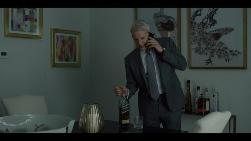 Johnnie Walker Blue Label Whisky Drunk by Campbell Scott in House of Cards Season 6 Episode 6 Chapter 71 (2018) - TV Show Product Placement