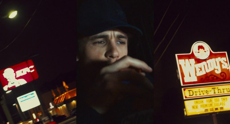 KFC and Wendy's Fast Food Restaurants and Gatorade Drink Held by James Franco in 127 Hours (2010) Movie Product Placement