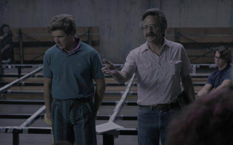 Lacoste Green Polo Shirt Worn by Chris Lowell (Bash Howard) in Glow Season 2 Episode 1 (4)