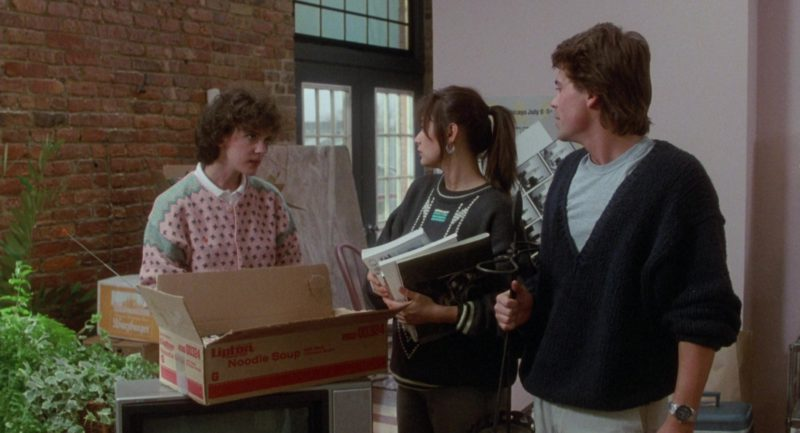 Lipton Noodle Soup Box in About Last Night… (1986) - Movie Product Placement