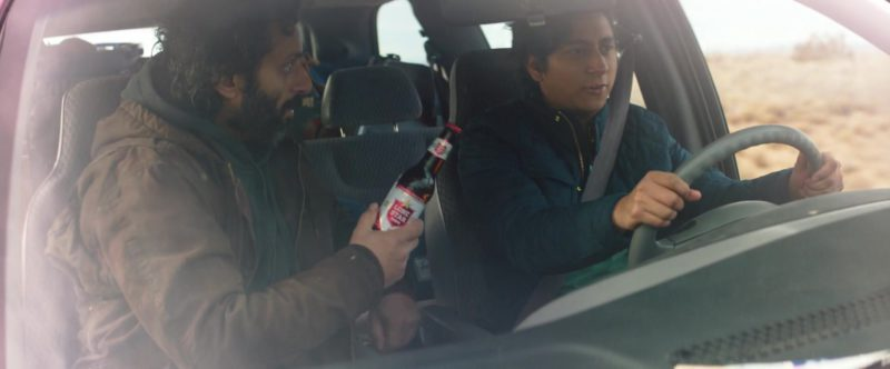 Lone Star Beer Held by Jason Mantzoukas in The Long Dumb Road (2018) - Movie Product Placement