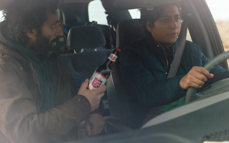 Lone Star Beer Held by Jason Mantzoukas in The Long Dumb Road
