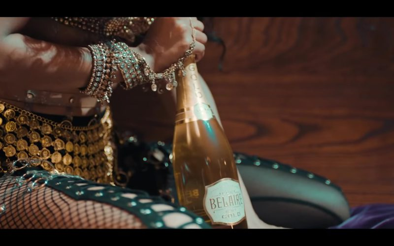 "Luc Belaire Brut Gold Sparkling Wine in ""I'm Not Goin'"" by Gucci Mane feat. Kevin Gates (1)"