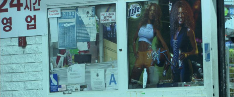 Miller Lite Beer Posters in Collateral (2004) - Movie Product Placement