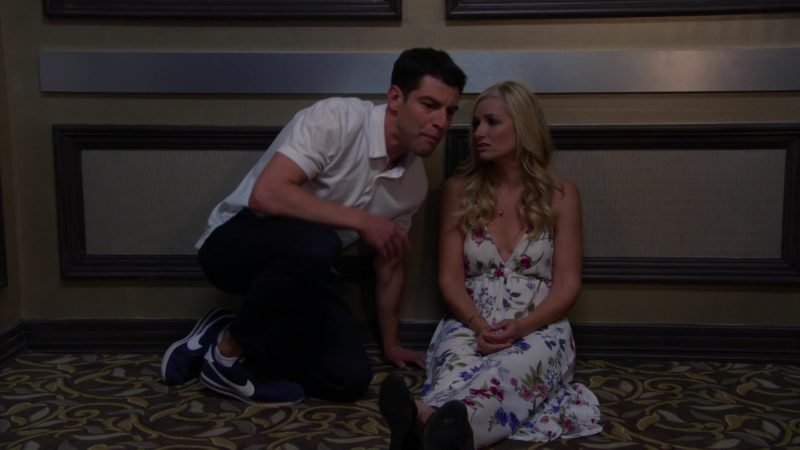 """Nike Blue Sneakers Worn by Max Greenfield (Dave Johnson) in The Neighborhood Season 1, Episode 6 """"Welcome to the Anniversary"""" (2018) TV Show Product Placement"""