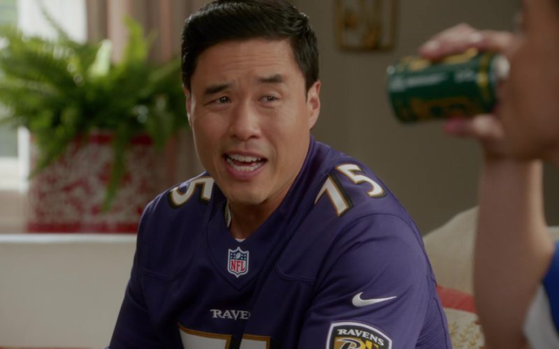 Nike NFL Baltimore Ravens Football Jersey Worn by Randall Park (Louis Huang) in Fresh Off the Boat (1)