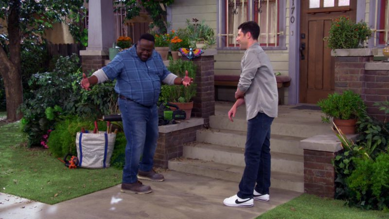 """Nike White Shoes Worn by Max Greenfield (Dave Johnson) in The Neighborhood Season 1, Episode 6 """"Welcome to the Anniversary"""" (2018) TV Show"""