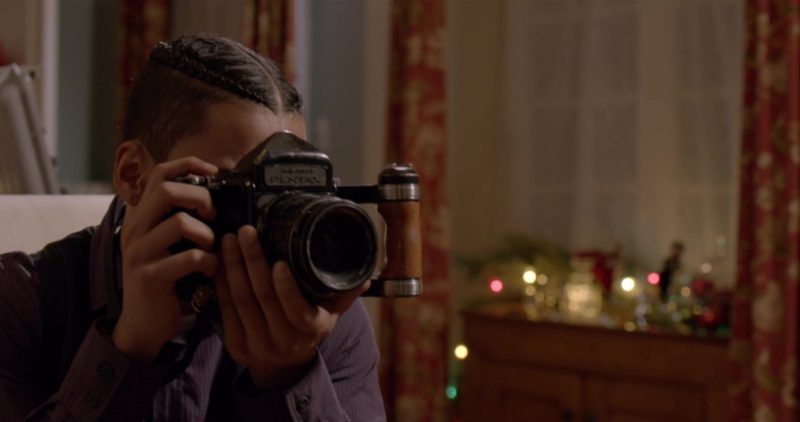 Pentax Vintage Camera Used by Quincy Taylor Brown in The Holiday Calendar (2018) Movie Product Placement