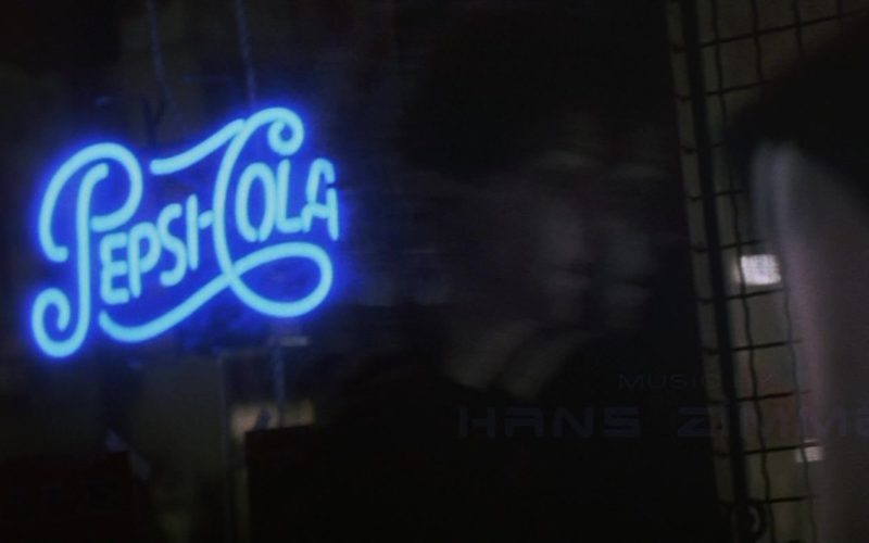 Pepsi Cola Blue Neon Sign in Point of No Return