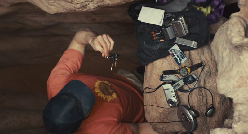 Petzl Headlamp and Capital One Card Used by James Franco in 127 Hours (2010) - Movie Product Placement
