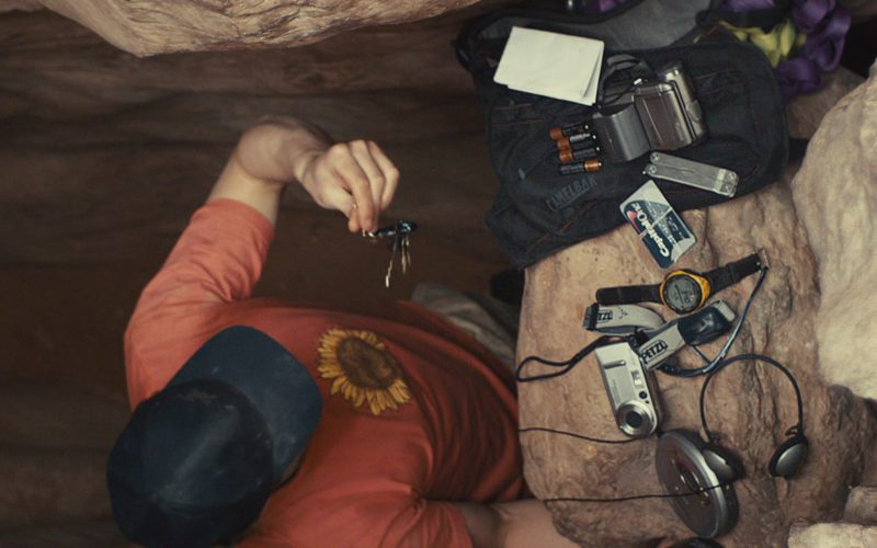 Petzl Headlamp and Capital One Card Used by James Franco in 127 Hours