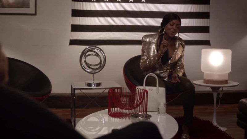 Prada Handbag (White) Used by Taraji P. Henson (Cookie Lyon) in Empire Season 5 Episode 6: What Is Done (2018) - TV Show Product Placement