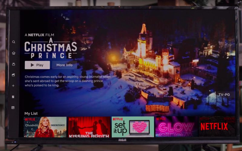 RCA TV and Netflix Application Used by Kat Graham in The Holiday Calendar (1)