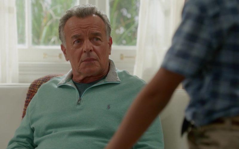 Ralph Lauren Green Sweater Worn by Ray Wise (Marvin Ellis) in Fresh Off the Boat Season 5 Episode 5 (2)