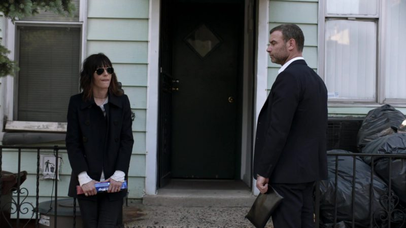 Ray-Ban Aviator Sunglasses Worn by Katherine Moennig in Ray Donovan Season 6, Episode 3: He Be Tight. He Be Mean. (2018) - TV Show Product Placement