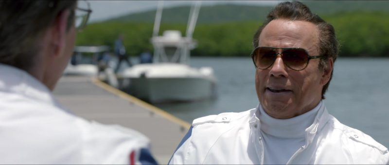 Ray-Ban Sunglasses Worn by John Travolta in Speed Kills (2018) - Movie Product Placement