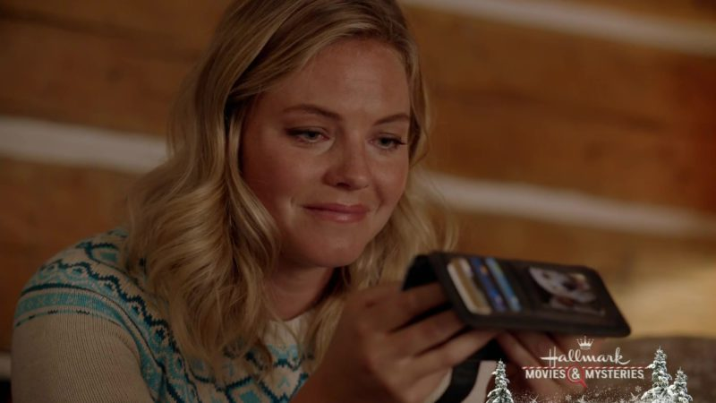 Samsung Galaxy Android Mobile Phone Used by Eloise Mumford in A Veteran's Christmas (2018) Movie Product Placement