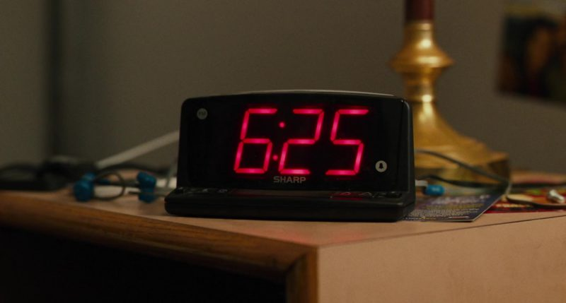 Sharp Digital Alarm Clock With Large Display in Blindspotting (2018) Movie Product Placement