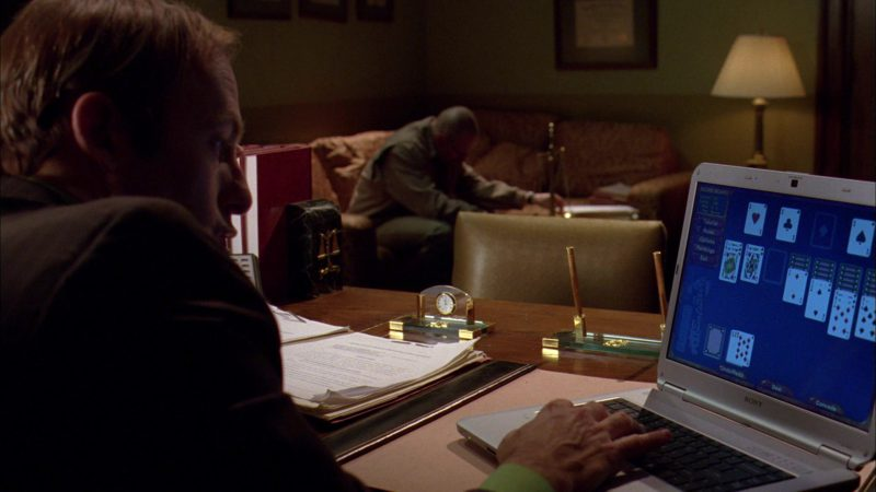 Sony Notebook Used by Bob Odenkirk (Saul Goodman) in Breaking Bad Season 3 Episode 12: Half Measures (2010) - TV Show Product Placement