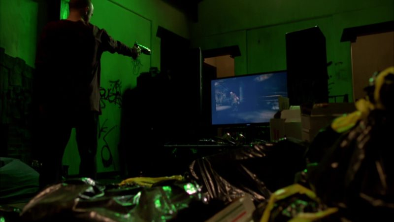 "Sony TV Used by Aaron Paul (Jesse Pinkman) and Rage Video Game in Breaking Bad Season 4 Episode 7 ""Problem Dog"" (2011) - TV Show Product Placement"