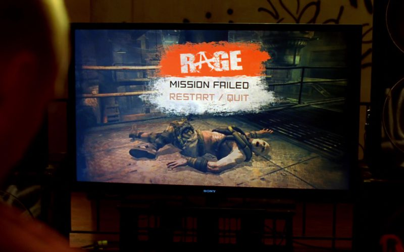 Sony TV Used by Aaron Paul (Jesse Pinkman) and Rage Video Game (7)