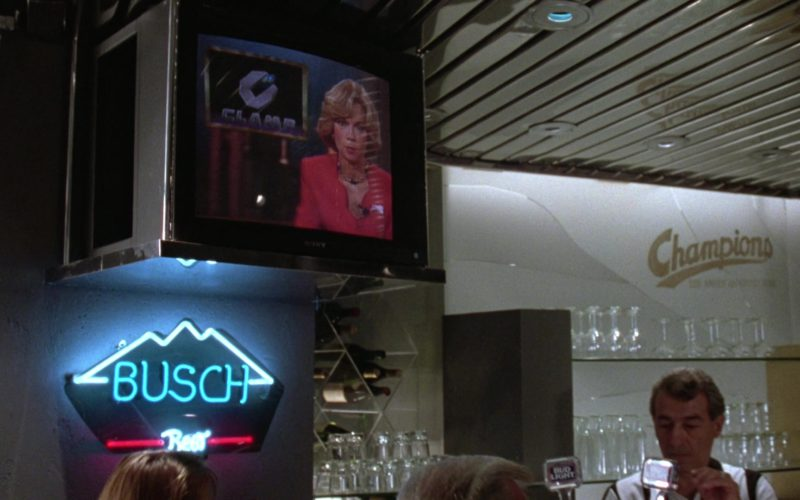 Sony TV and Busch Beer Sign in Gremlins 2 The New Batch (1)