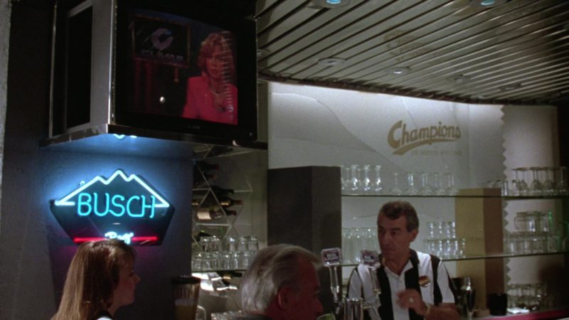 Sony TV and Busch Beer Sign in Gremlins 2: The New Batch (1990) - Movie Product Placement