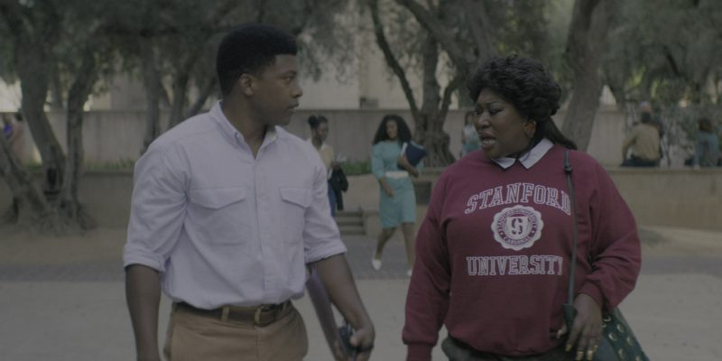"Stanford University Sweatshirt Worn by Kia Stevens American Professional Wrestler in Glow Season 2 Episode 4 ""Mother of All Matches"" (2018) - TV Show Product Placement"