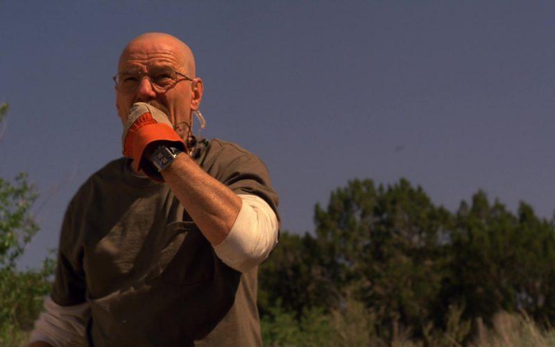 TAG Heuer Monaco Chronograph Watch Worn by Bryan Cranston (Walter White) in Breaking Bad Season 5 Episod