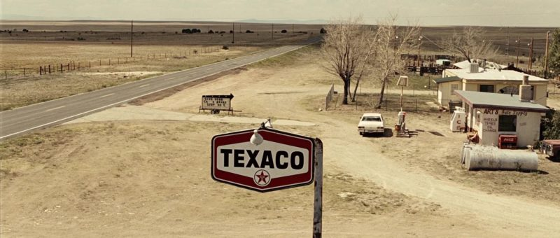 Texaco Sign in No Country for Old Men (2007) Movie
