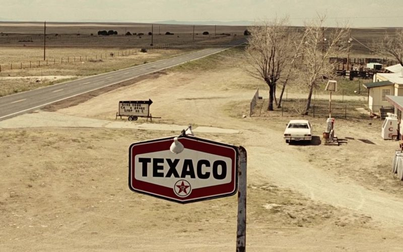 Texaco Sign in No Country for Old Men