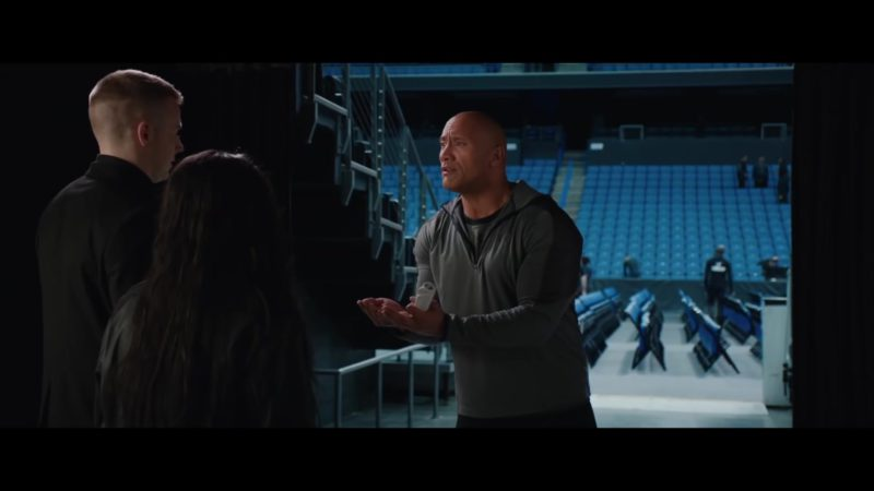 Under Armour Grey Tee and Jacket Worn by Dwayne Johnson in Fighting with My Family (2019) - Movie Product Placement