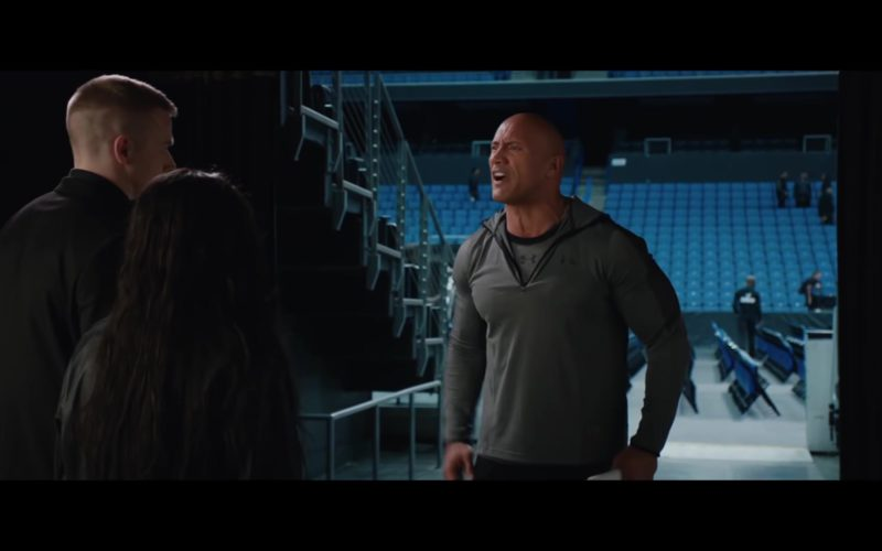 Under Armour Grey T-shirt and Jacket Worn by Dwayne Johnson in Fighting with My Family (7)