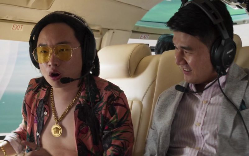 Versace Medusa Chain Necklace Worn by Jimmy O. Yang in Crazy Rich Asians (1)