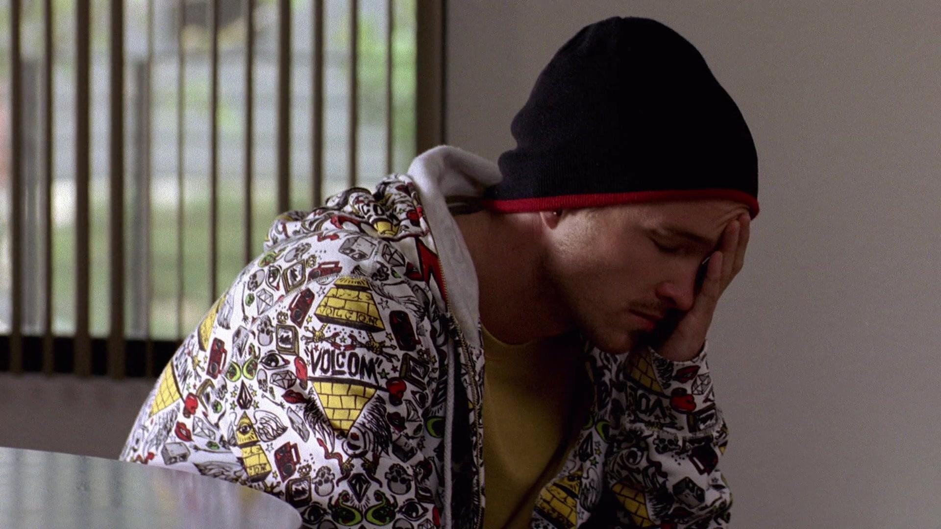 Sótano Influyente Embotellamiento  Volcom Hoodie Worn By Aaron Paul (Jesse Pinkman) In Breaking Bad Season 2  Episode 4: Down (2009)