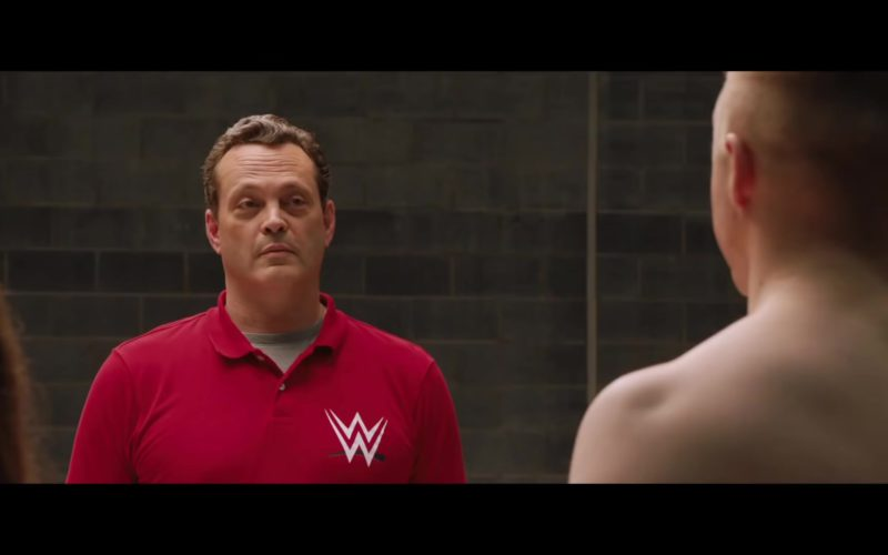WWE Red Polo Shirt Worn by Vince Vaughn in Fighting with My Family (1)