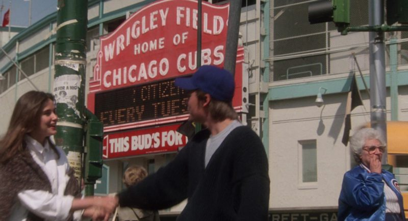 Wrigley Field Home Of Chicago Cubs Playing Field in About Last Night… (1986) - Movie Product Placement
